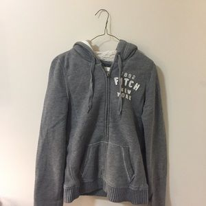 Abercrombie & Fitch Sherpa Zip-Up